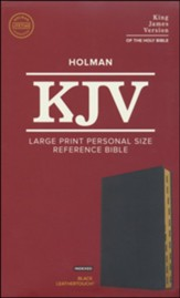 KJV Large Print Personal Size Reference Bible, Black Leathertouch Imitation Leather, Indexed