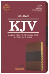KJV Large Print Personal Size Reference Bible, Saddle Brown Leathertouch Imitation Leather, Indexed - Slightly Imperfect