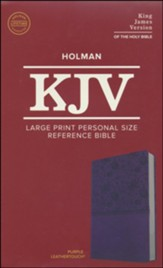 KJV Large Print Personal Size Reference Bible, Purple Leathertouch Imitation Leather