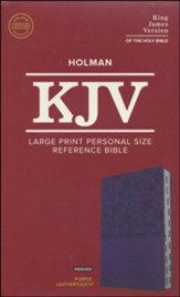 KJV Large Print Personal Size Reference Bible, Purple Leathertouch Imitation Leather, Indexed - Imperfectly Imprinted Bibles