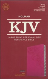KJV Large Print Personal Size Reference Bible, Pink Leathertouch Indexed Imitation Leather