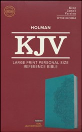 KJV Large Print Personal Size Reference Bible, Teal Leathertouch Imitation Leather, Indexed