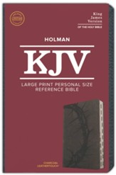 KJV Large Print Personal Size Reference Bible, Charcoal Leathertouch Imitation Leather