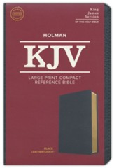 KJV Large Print Compact Reference Bible, Black LeatherTouch Imitation Leather