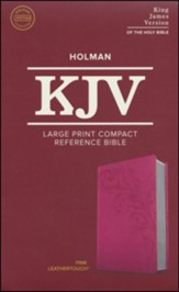 KJV Large Print Compact Reference Bible, Pink LeatherTouch Imitation Leather