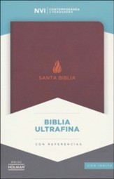 Biblia Ultrafina NVI, Piel Fab. Marron, Ind.  (NVI Ultrathin Bible, Brown Bonded Leather, Ind.)