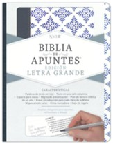 NVI Biblia de Apuntes blanco y azul símil piel (NVI Notetaking Bible, White and Blue LeatherTouch Imitation Leather)