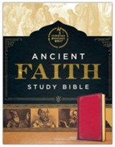 CSB Ancient Faith Study Bible--soft leather-look, crimson (indexed)