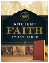 CSB Ancient Faith Study Bible--soft leather-look, tan