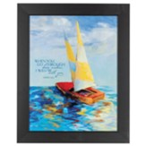 When You Go Through Deep Waters, Sailboat, Framed Art