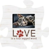 Love Is A Four Legged Word Puzzle, Photo Frame