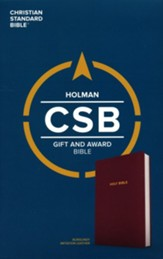 CSB Gift & Award Bible--imitation leather, burgundy