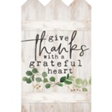Give Thanks With A Grateful Heart, Wall Decor