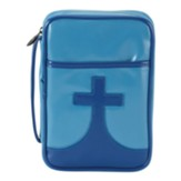 Youth Cross Bible Cover, Blue, Medium