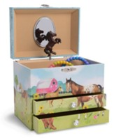 Wild & Free Horse Jewelry Box, 2 Drawers