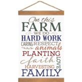 On This Farm We Do Hard Work, Banner