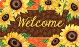 Welcome, Bold Sunflowers, Door Mat