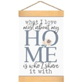 What I Love Most About My Home Is Who I Share It With, Banner