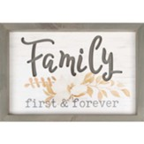 Family First And Forever Framed, Wall Decor
