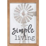 Simple Living Framed, Wall Decor
