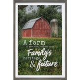 A Farm Is More Than Land And Crops Carved Framed, Wall Decor