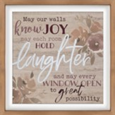May Our Walls Know Joy Carved Framed, Wall Decor