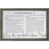 The Greatest Is Love Framed Wall Décor