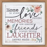 Home Is Where Love Resides Framed Wall Décor