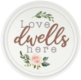 Love Dwells Here Carved, Wall Art