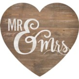 Mr And Mrs, Heart Shaped Art