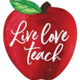 Live Love Teach, Apple Shaped Art