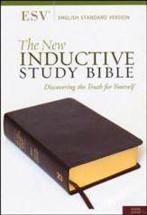 The ESV New Inductive Study Bible, Genuine Leather, Burgundy