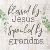 Blessed By Jesus Spoiled By Grandma Magnet