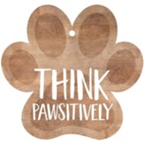 Think Pawsitively, Gift Tag