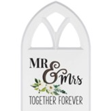 Mr And Mrs Together Forever Carved, Wall Art, Window