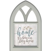 Home Is Where Our Story Begins, Wall Art, Window