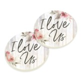 I Love Us Coasters, Set of 2