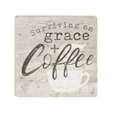 Surviving On Grace And Coffee Coaster