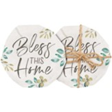 Bless This Home Coasters, Set of 4