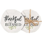Thankful And Blessed Coasters, Set of 4