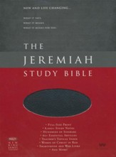 NKJV The Jeremiah Study Bible,  Genuine leather, Black (indexed)