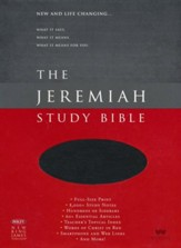 NKJV The Jeremiah Study Bible, Genuine leather, Black