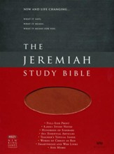 NKJV Jeremiah Study Bible, Soft Leather-look, Brown with burnished edges