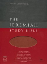 NKJV Jeremiah Study Bible, Soft leather-look, Brown w/burnished edges (indexed) - Slightly Imperfect