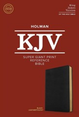 KJV Super Giant-Print Reference  Bible--soft leather-look, black