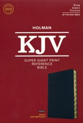 KJV Super Giant-Print Reference Bible--soft leather-look, black (indexed) - Slightly Imperfect