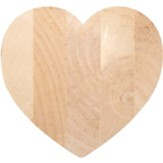 Unfinished Wood Heart, 3.5 X 3.25