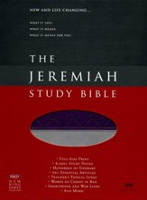 NKJV Jeremiah Study Bible, soft leather-look, purple/gray - Slightly Imperfect