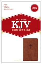 KJV Compact Bible, Value Edition--soft leather-look, brown