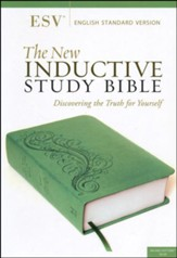 The ESV New Inductive Study Bible, Milano Softone, Green